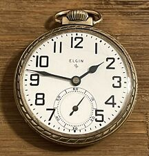 VINTAGE 1950 ELGIN 575 15 JEWELS SIZE 16 G.F. POCKET WATCH - RUN