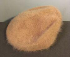 David & Young beret Hat 90% Angora 10% Nylon Beige