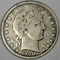 1900-O BARBER HALF DOLLAR - NICE FINE PRICED RIGHT!