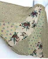 Gypsy skirt size 14 16 L patchwork cotton muslin flared godet inserts midi