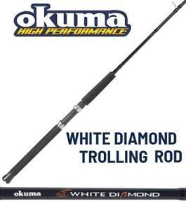 "Okuma White Diamond 8'6"" Medium 2-Piece Trolling Rod WDDR862M"
