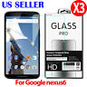 3X Premium Real Tempered Glass Screen Protector Film For Motorola Google Nexus 6