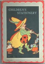 Children's Stationary Folder w/ Paper & Envelopes c1930-40s ~ Vernon Grant?