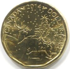 2014 CANADA UNC SPECIMEN 'REINDEER' ONE DOLLAR Coin