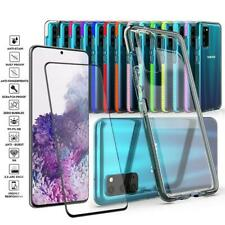 For Samsung Galaxy S20/Plus/Ultra Clear Slim Shockproof Bumper Case+Glass Screen