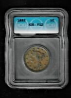 REDUCED!!!   ICG F-12  1853 Braided Hair Large Cent!!!!     #1034