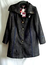 NEW! BNWT ! Joe Browns Ladies Quirky / Steam Punk Black Coat UK Size 16
