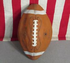 Vintage Revelation Leather Official Football w/ Laces Lou The Toe Groza 3Ec1021