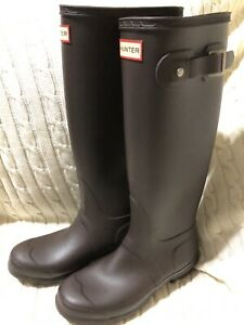 Hunter Original Women's Tall Rain Boots Sz 6 Brown