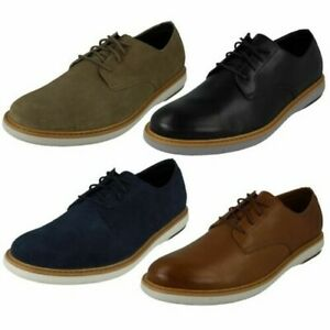 Mens Clarks Suede/Leather Lace Up Smart Casual Everyday Shoes Draper lace