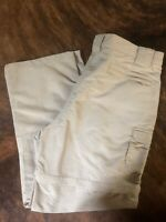 LL Bean Convertible Zip Off Nylon Hiking Fishing Pants Brown Mens Sz Large
