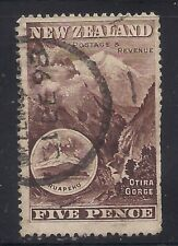 New Zealand  1898  Sc # 77(5p)  Perf:16  Used   Cv.225   (46194)