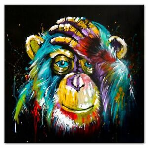 New watercolor Thinking Monkey Wall Art Canvas Prints Abstract Animals Pictures