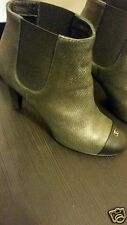 CHANEL  Ankle Boots. Size 9.