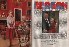 Coupure de presse Clipping 1984 Ronald & Nancy Reegan   (16 pages)