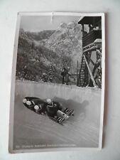 Alte Foto AK 1954 Olympia- Bobbahn Garmisch- Partenkirchen