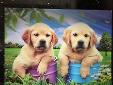 3D Effect Lenticular Printing Moving Picture Wall Decor *Puppies*