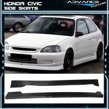For 96-00 Honda Civic CS Style 2DR 3DR Coupe Hatchback Side Skirts Unpainted PU