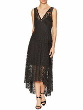 Tracy Reese 'Black Lace Frock' Midi Dress Sz XS Beautiful Alluring Style NWT