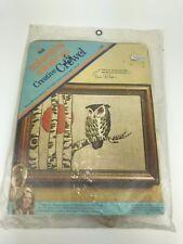 New listing Owl Sun Crewel Kit Erica Wilson Vintage 1973 Embroidery Needle Craft 70's Birch