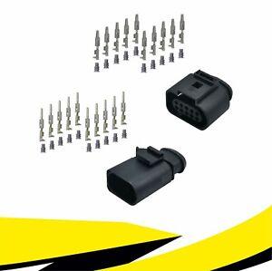 Buchse + Stecker 10-polig Reparatursatz 1J0973715 6X0973815 für VW AUDI MT Crimp