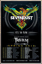 SEVENDUST TRIVIUM Kill The Flaw Tour 2016 Ltd Ed RARE Poster +FREE Rock Poster!