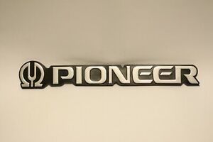 """For Replacement BIG SIZE PIONEER Plastic Logo Badge 180mm ( 7"""") x 28mm (1-1/8"""")"""