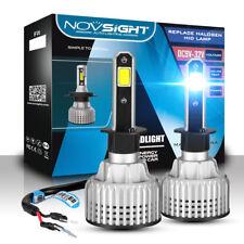 NOVSIGHT 2x H1 LED Headlight Kit 72W 6500K 10000LM Bulbs Pair Xenon White Lamps