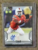 JAQUAN JOHNSON 2019 LEAF DRAFT AUTOGRAPH BUFFALO BILLS MIAMI HURRICANES ROOKIE