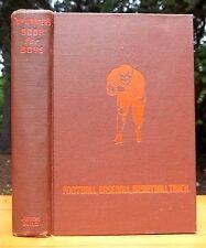 RARE 1934 POP WARNER COACH FOOTBALL BASEBALL BASKETBALL TRACK Book for Boys