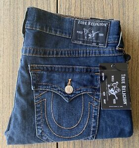 True Religion Men's Ricky Flap Pocket Relaxed Straight Leg Jeans Sz 36x32 NWT