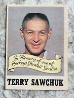 1970-71 OPC OPC #231 TERRY SAWCHUK EX IN MEMORY N Y RANGERS MAPLE LEAFS Ref 70