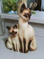 Vintage 1950`s KRON Mid - Century Siamese Cat TV Lamp Night Light Glowing Eyes