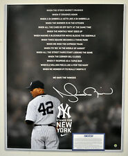 Mariano Rivera Signed AUTO 16x20 NY Stands for New York Print Steiner COA RARE
