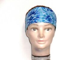 Skulls on Turquise headband 100%cotton HB69-1 New handmade one size fits most