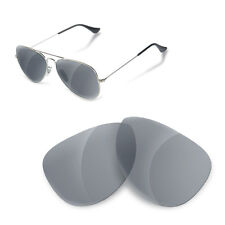 Polarized Replacement Lenses for Rayban 3025 aviator 58 size grey color