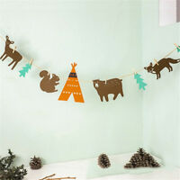 1set Felt Animal Garland Bunting Banner For Child Room Decor Baby Shower Deco_AI