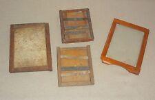 3 Antique Eastman Kodak Flexo Photography Printing Frames 1 has glass plus part