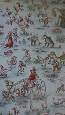 FUN DAY AT THE COUNTRY FAIR UPHOLSTERY SEWING FABRIC COTTON - 1 YARD X 44 WIDE