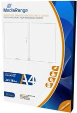 100 Mediarange Inlay zum bedrucken für 7 mm DVD Hüllen Slim