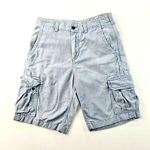 NORTH COAST Marks & Spencer Mens Light Blue Cargo Casual Shorts Size 32