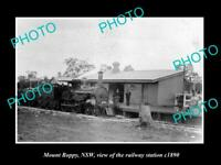 OLD POSTCARD SIZE PHOTO OF MOUNT BOPPY NSW VIEW OF THE RAILWAY STATION c1890