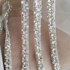 1 Yard Thin Rhinestone Crystal Trim For Wedding Belt Bridal Sash Bridesmaid Belt