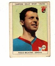 figurina LAVAZZA ANNO 1950/51 CALCIO NUMERO 216 GENOVA BECATTINI  NEW