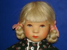 "Kathe Kruse 10 1/2"" RENATE Daumlinchen 25H Blonde Hair Doll in Dress 1977-78"