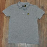 Lyle & Scott Boys Grey Polo Shirt Casual Top Collar Kids 6-7 Years