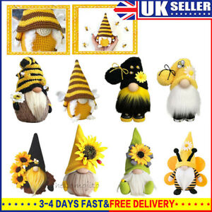 Bumble Bee Gnome Nordic Gonk Tomte Sunflower Swedish Nisse Plush Doll Ornaments