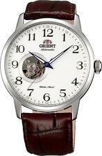 Orient FDB08005W Men's Esteem Leather Band Open Heart Skeleton Automatic Watch
