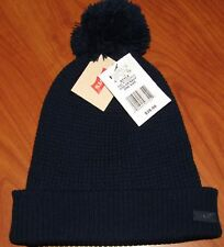375ea51cb19 Levi s Men Waffle Weave Pom Beanie Hat Navy Blue One Size