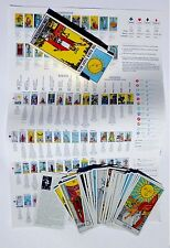 Rider Waite Tarot Card Deck with Reference sheet